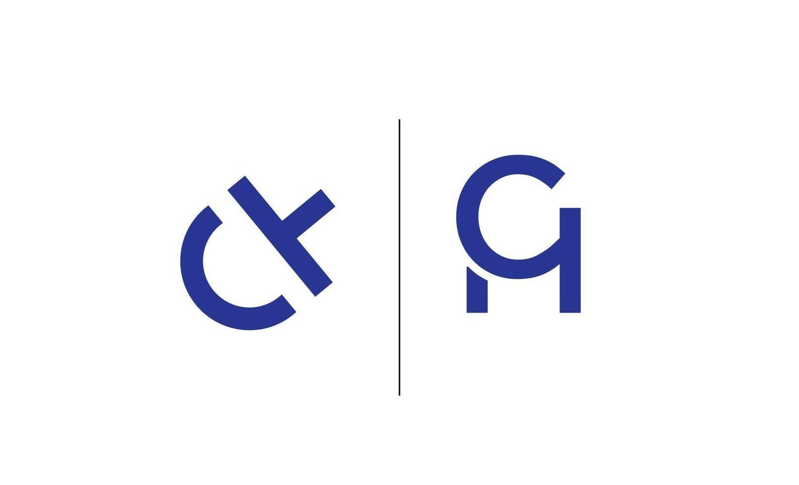 första ch, hc logo design mall vektor