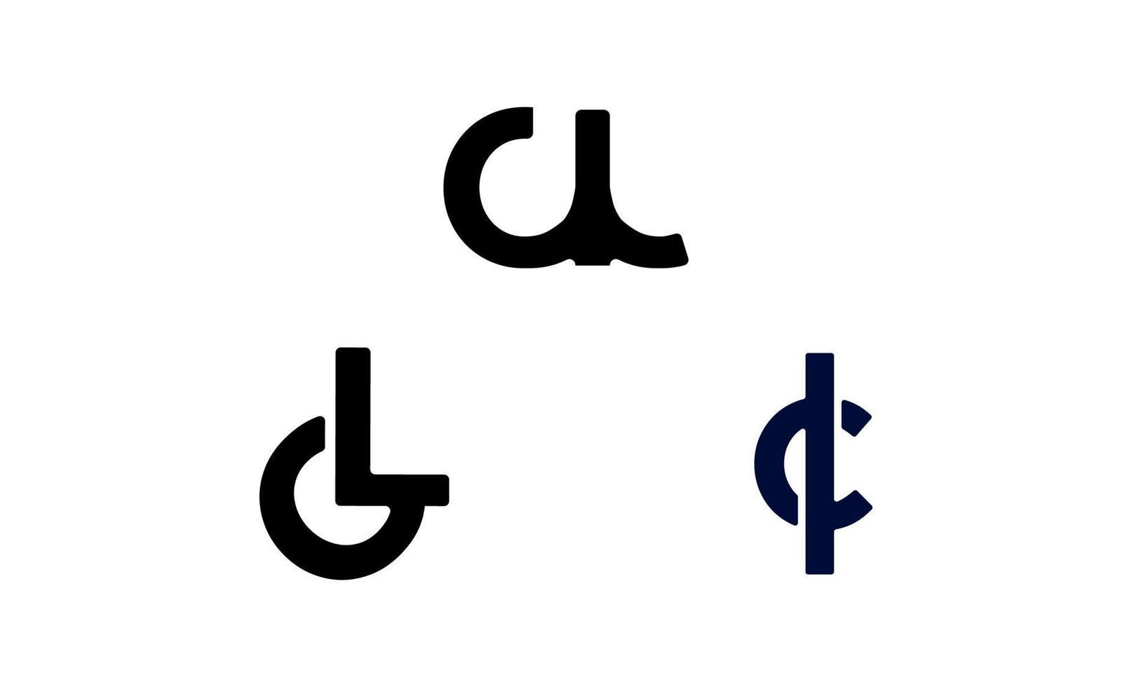 första bokstaven cl, lc logo design mall vektor