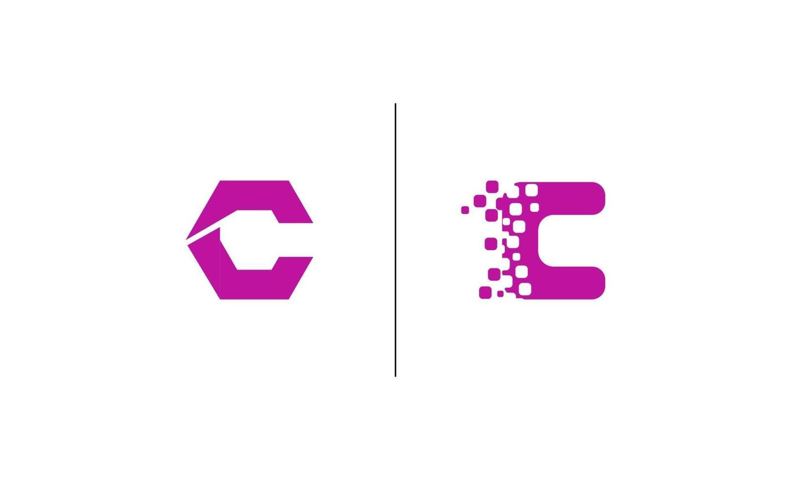 initial c kreativ design logotyp vektor