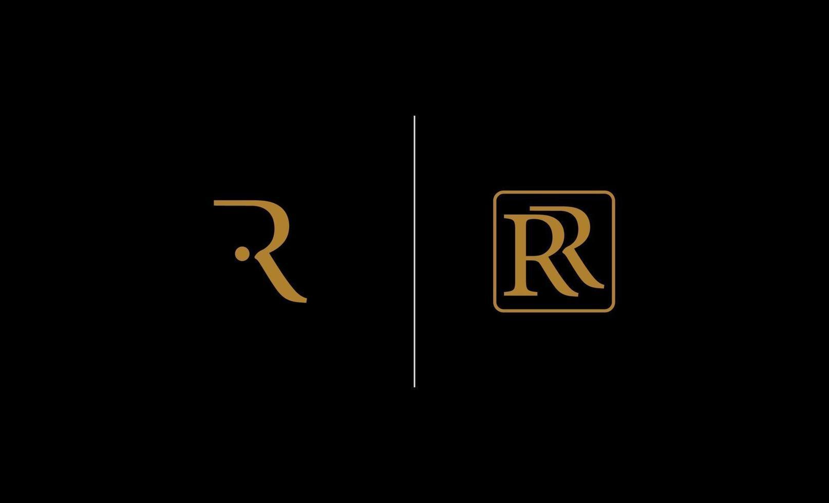 brev r inspiration logo design vektor