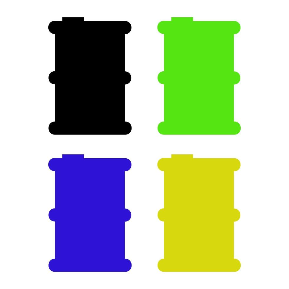 oljefat ikon på vit bakgrund vektor