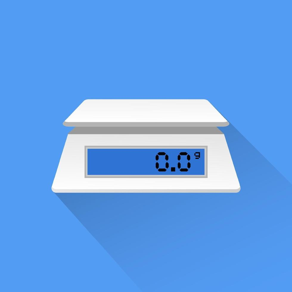 elektronisk köksvåg ikon vektorillustration. vektor