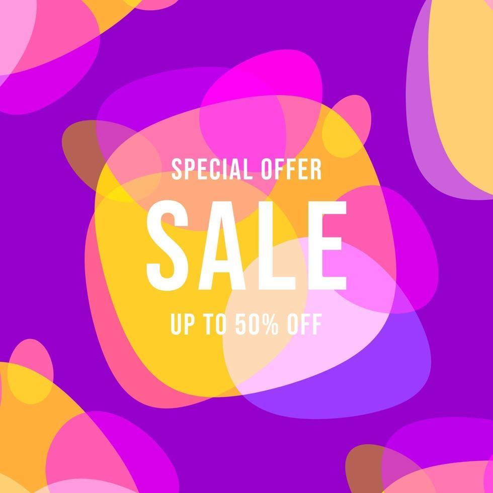specialerbjudande försäljning banner mall design. vektor