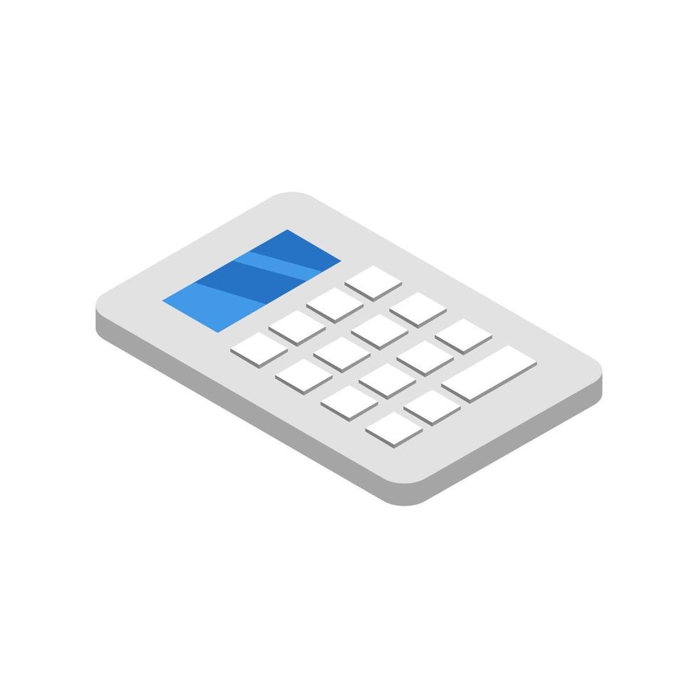 isometrisk räknare ikon på bakgrunden vektor