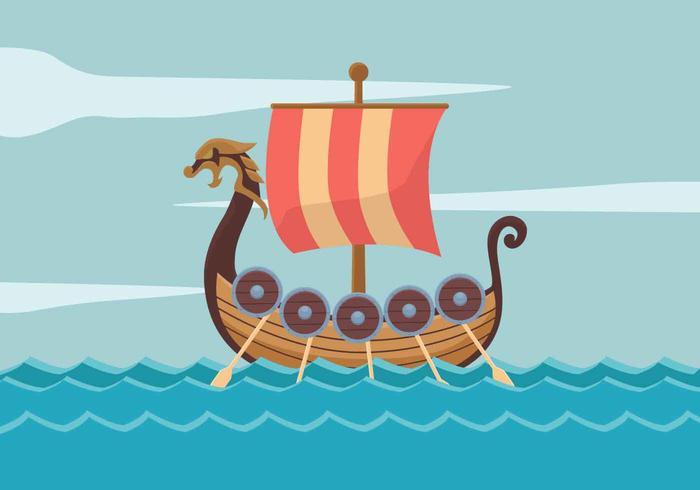 viking ship vektor illustration