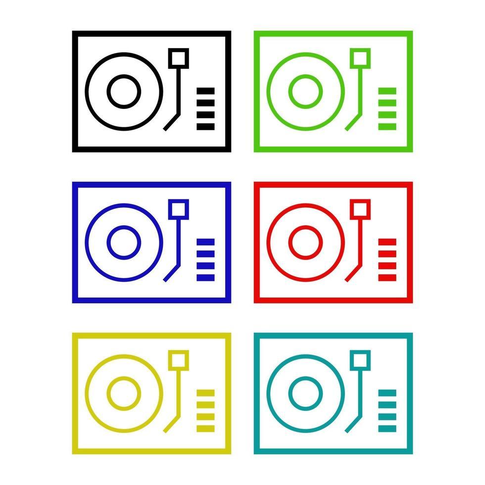 dj mixer ikon på bakgrunden vektor