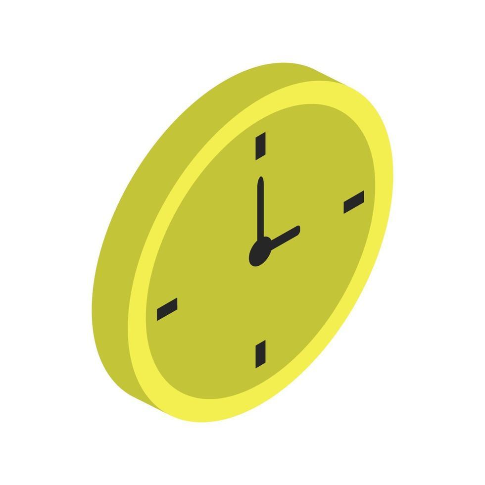 klockikon på bakgrunden vektor