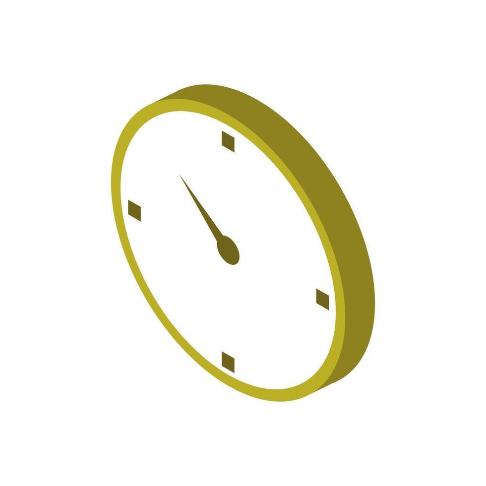 Uhrensymbol auf Hintergrund vektor