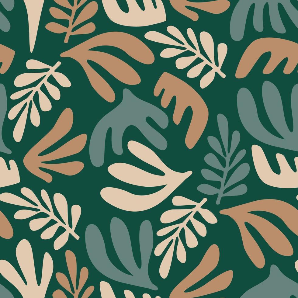 sömlösa mönster för samtida konst med abstrakta växter. modern design vektor