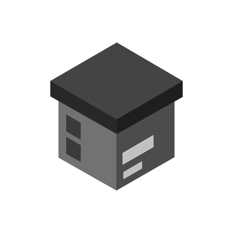 Paket-Symbol isometrisch auf Hintergrund vektor