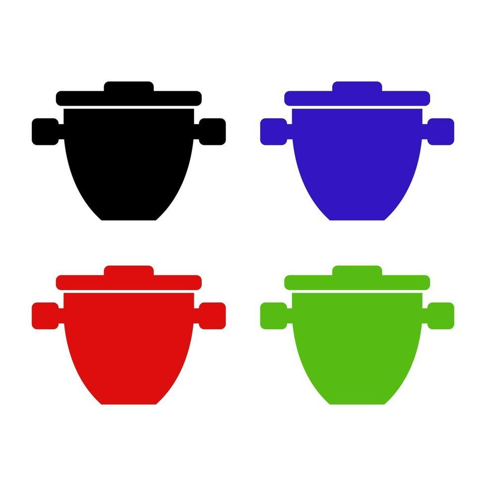 isometrisk kruka ikon på bakgrunden vektor