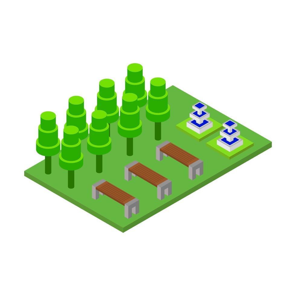 isometrisk park ikon på bakgrunden vektor