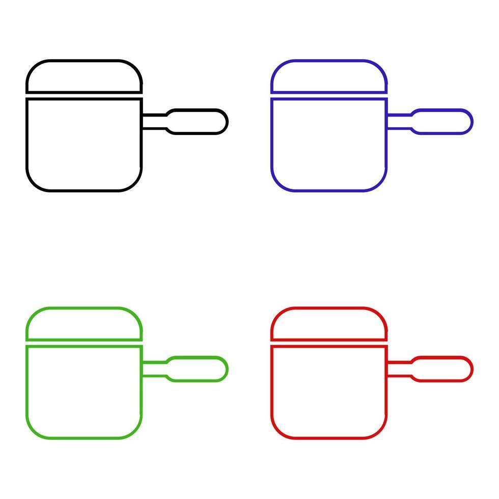 isometrisches Topfsymbol auf Hintergrund vektor