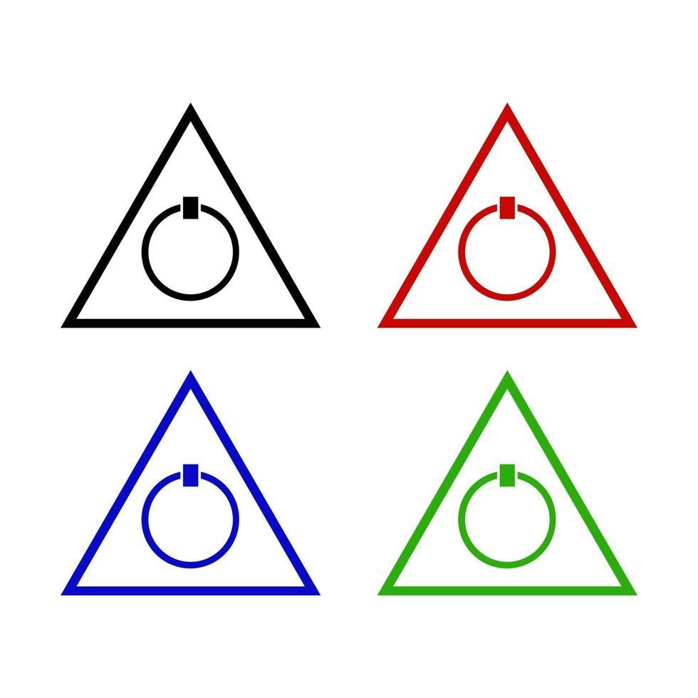 Ein- / Ausschalter-Symbol im Hintergrund vektor