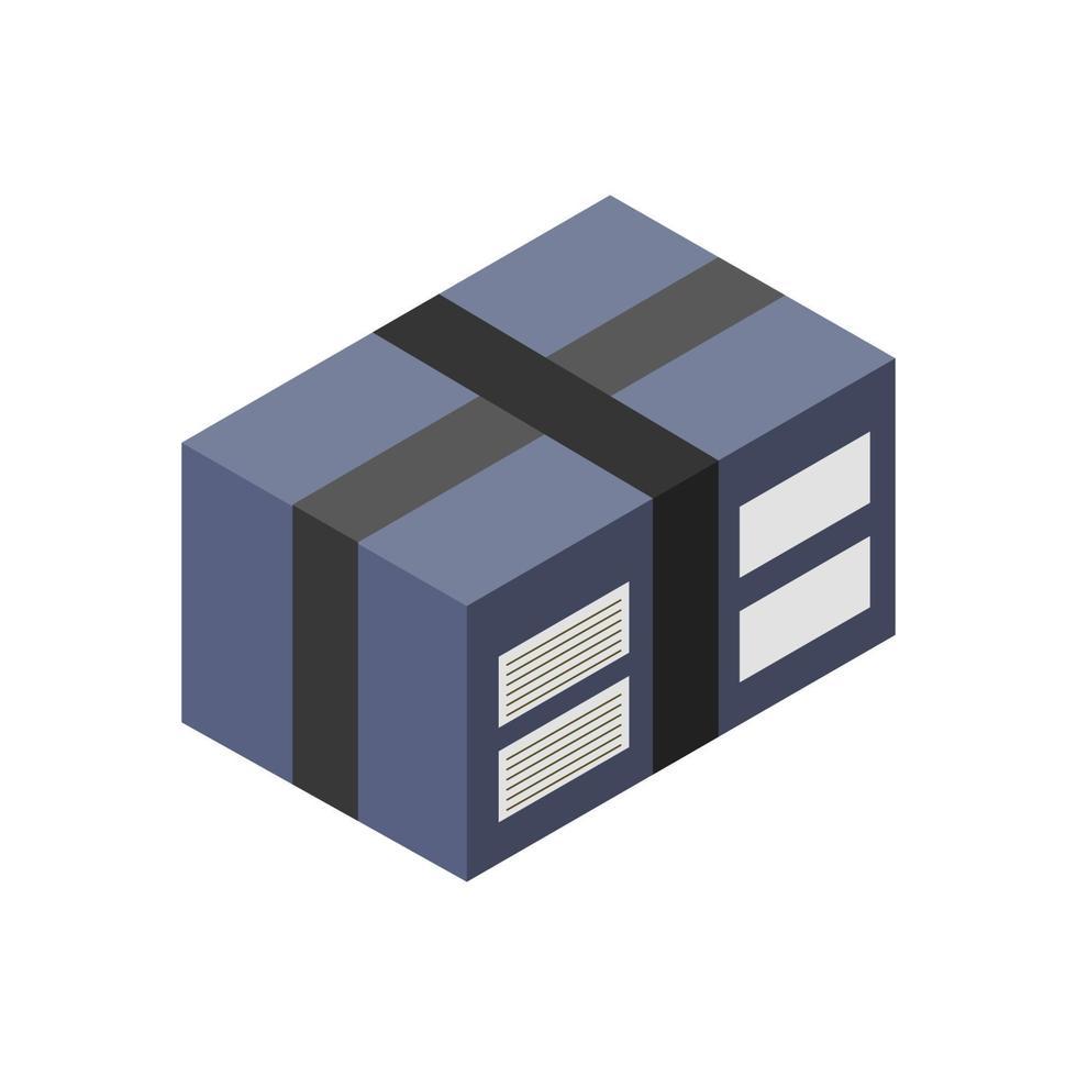 paketikonen isometrisk på bakgrunden vektor