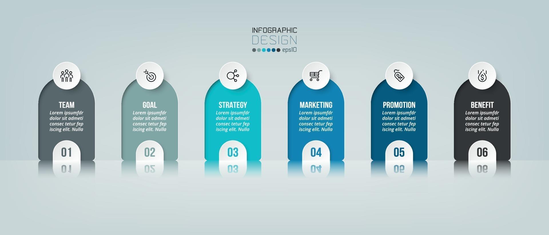 infografisk verksamhet och marknadsföring med steg eller alternativ. vektor