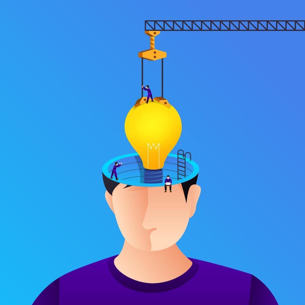 illustratio konzept kreative idee vektor