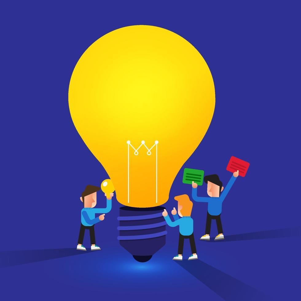 Illustration Konzept Teamwork kreative Idee vektor