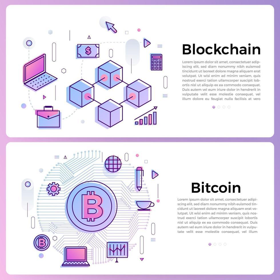 bannerillustration med ikoner för affärsöversikt vektor