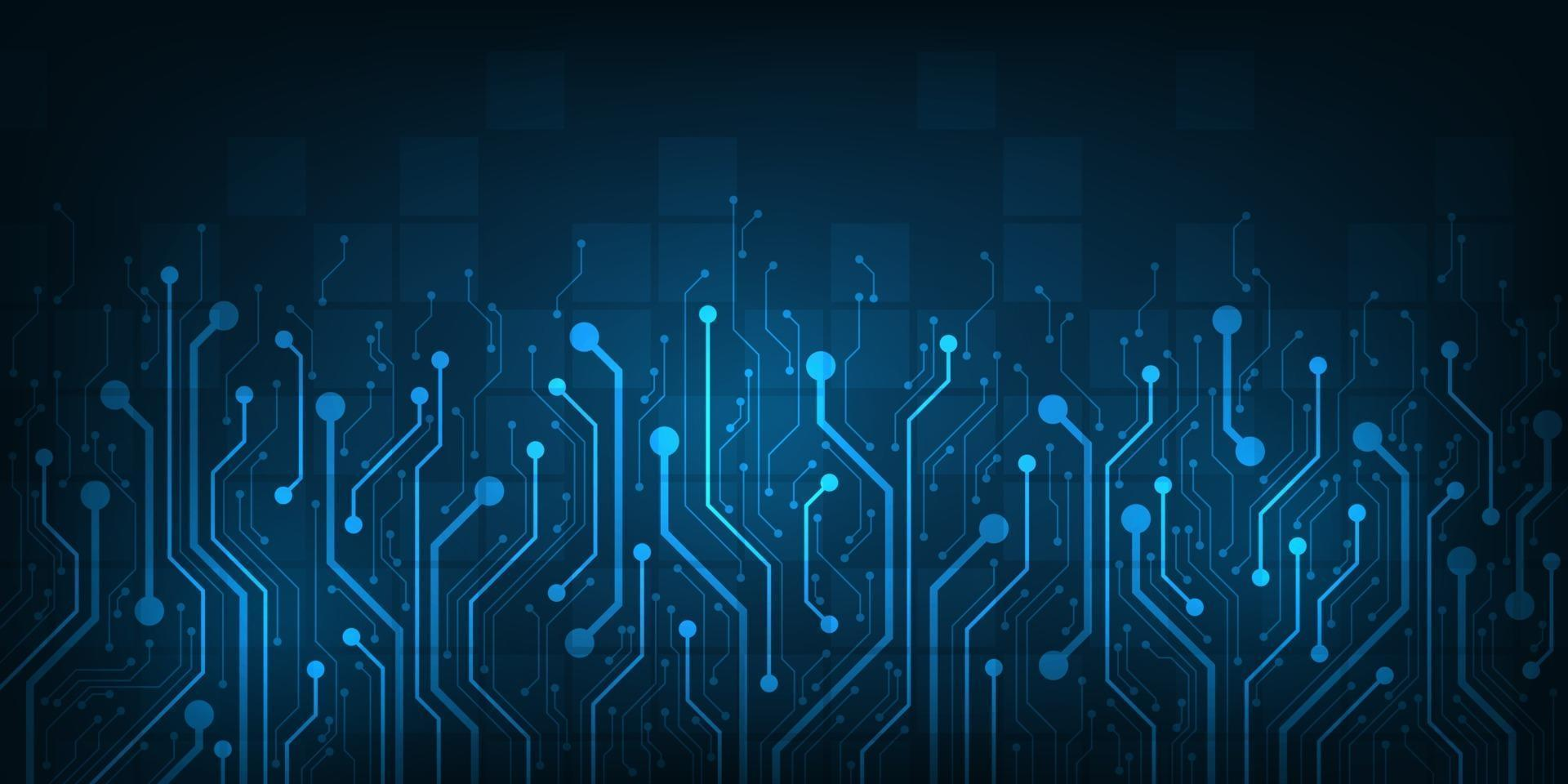 Design im Konzept der elektronischen Leiterplatten. vektor