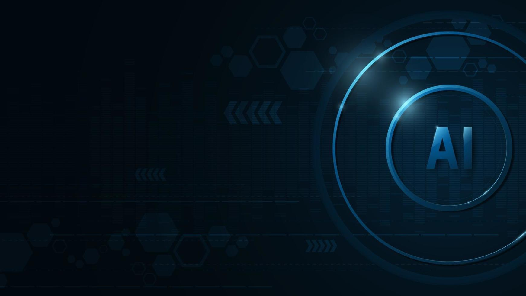 ai operativsystem på en mörkblå bakgrund. vektor