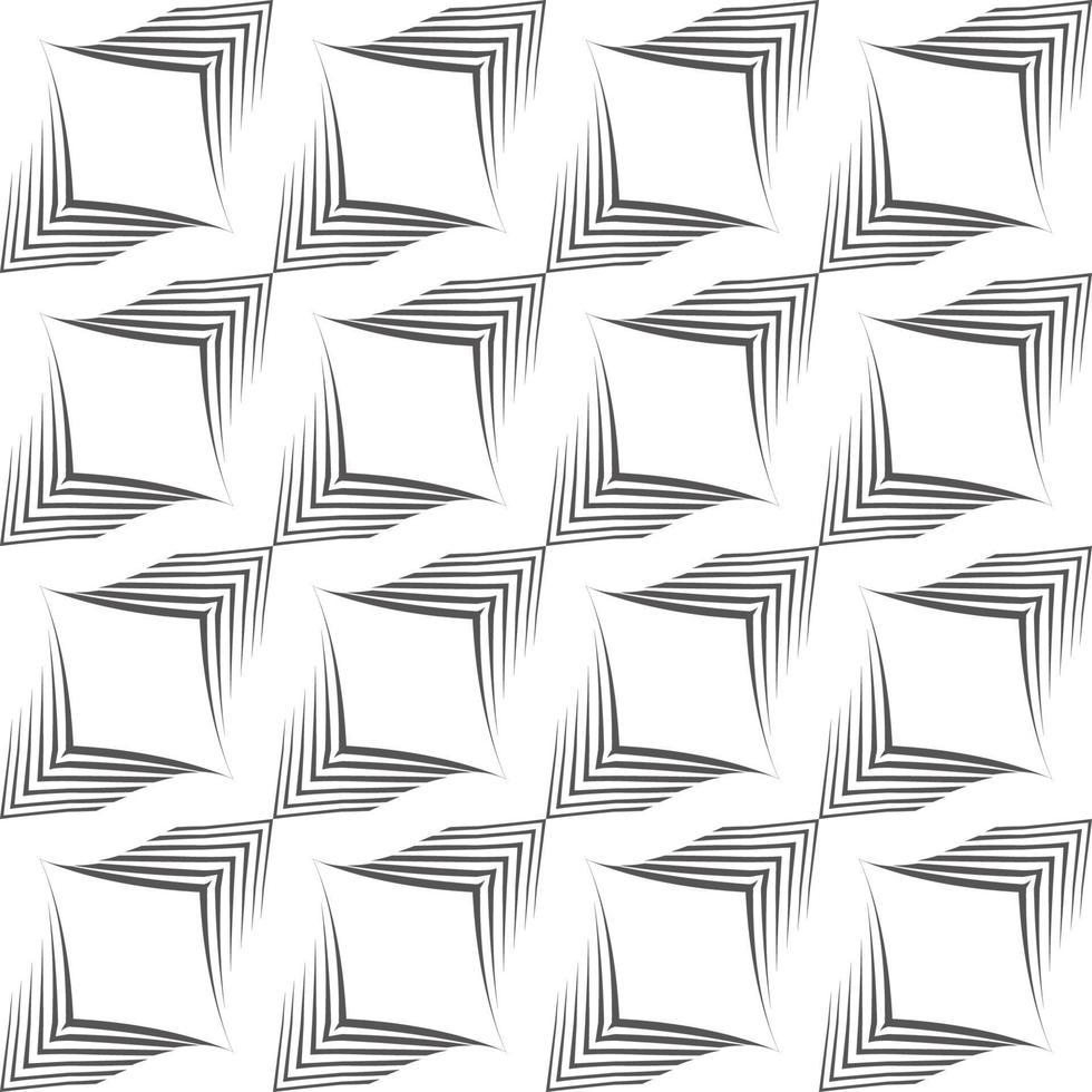 nahtloses Vektormuster von unebenen Linien, die von einem Stift in Form von Ecken gezeichnet werden. vektor