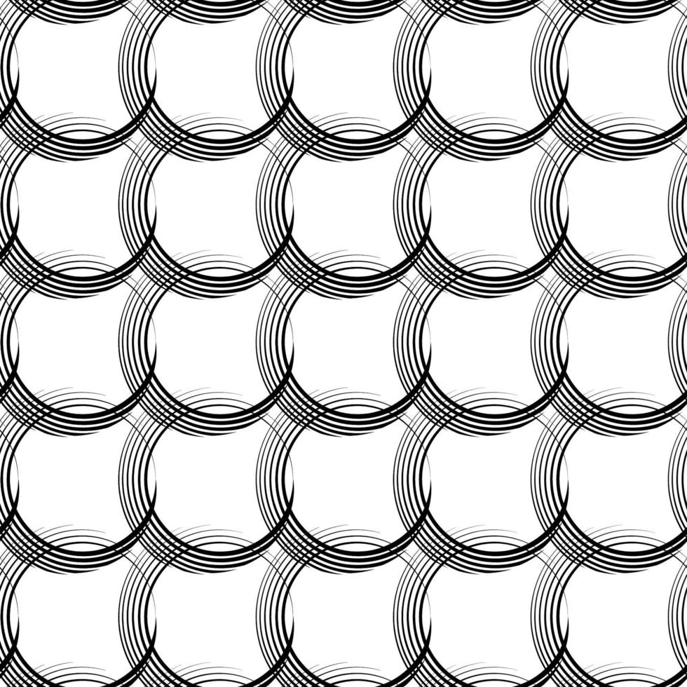 vektor sömlösa linjära mönster av ojämna linjer i form av korsande cirklar.
