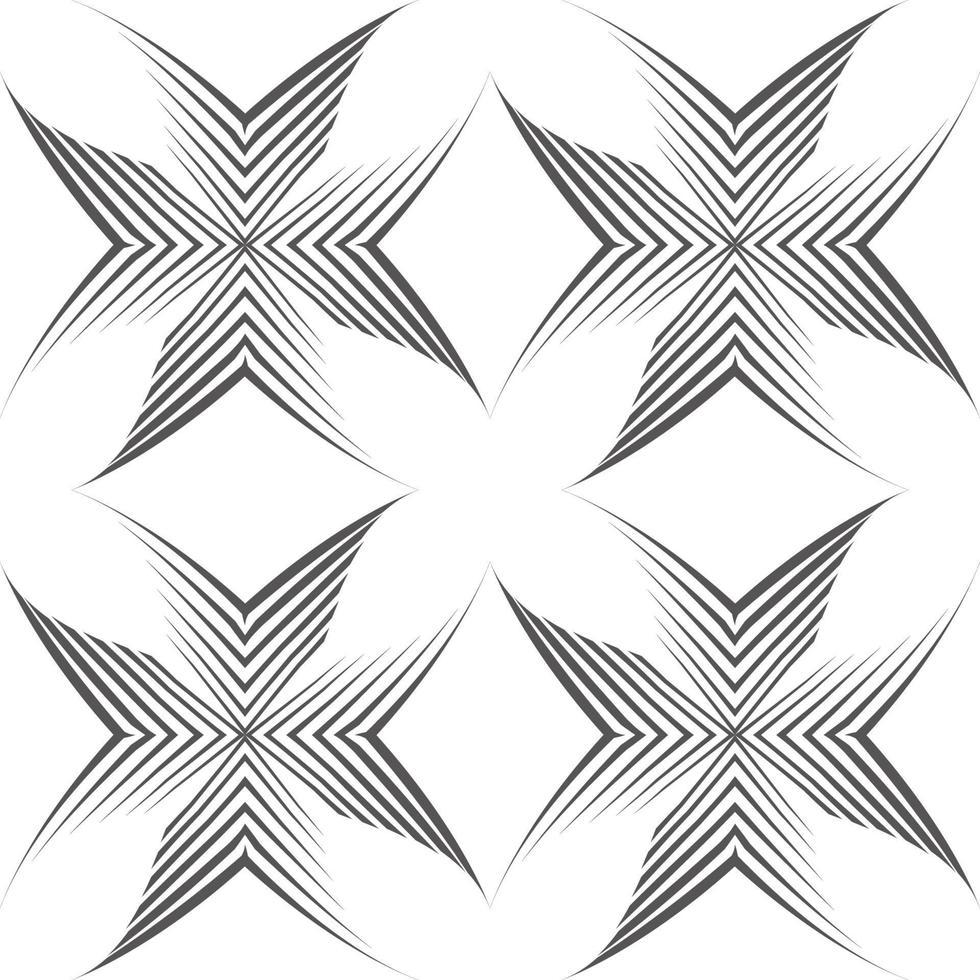 nahtloses Vektormuster von unebenen Linien, die mit einem Stift in Form von Ecken oder Kreuzen gezeichnet wurden. vektor
