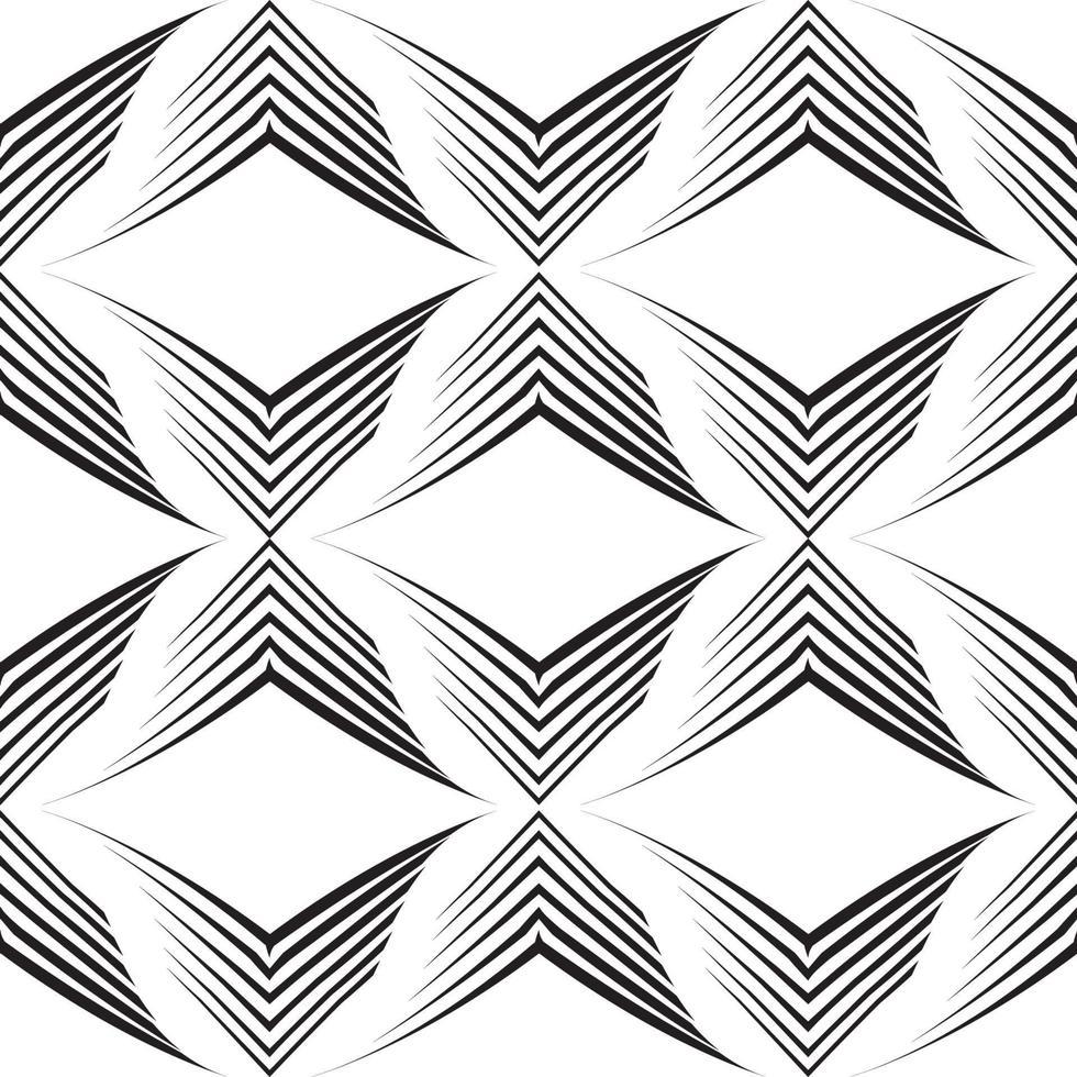nahtloses Vektormuster von unebenen Linien in Form von Ecken. vektor