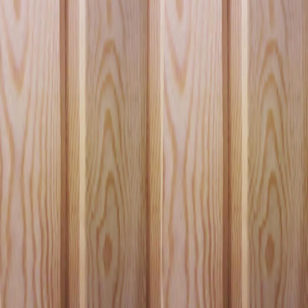 vektor realistisk konsistens av ett träfoder med fasningar och fördjupningar. trä tall vertikala tärningar.