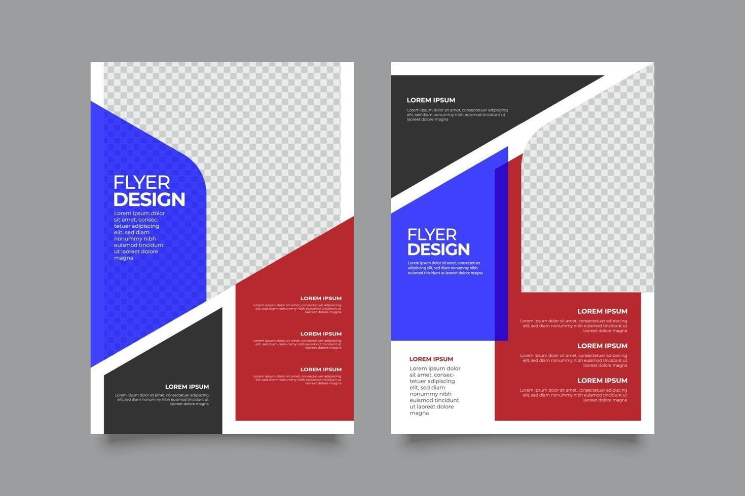 platt webinar flygblad mall med geometriska former vektor