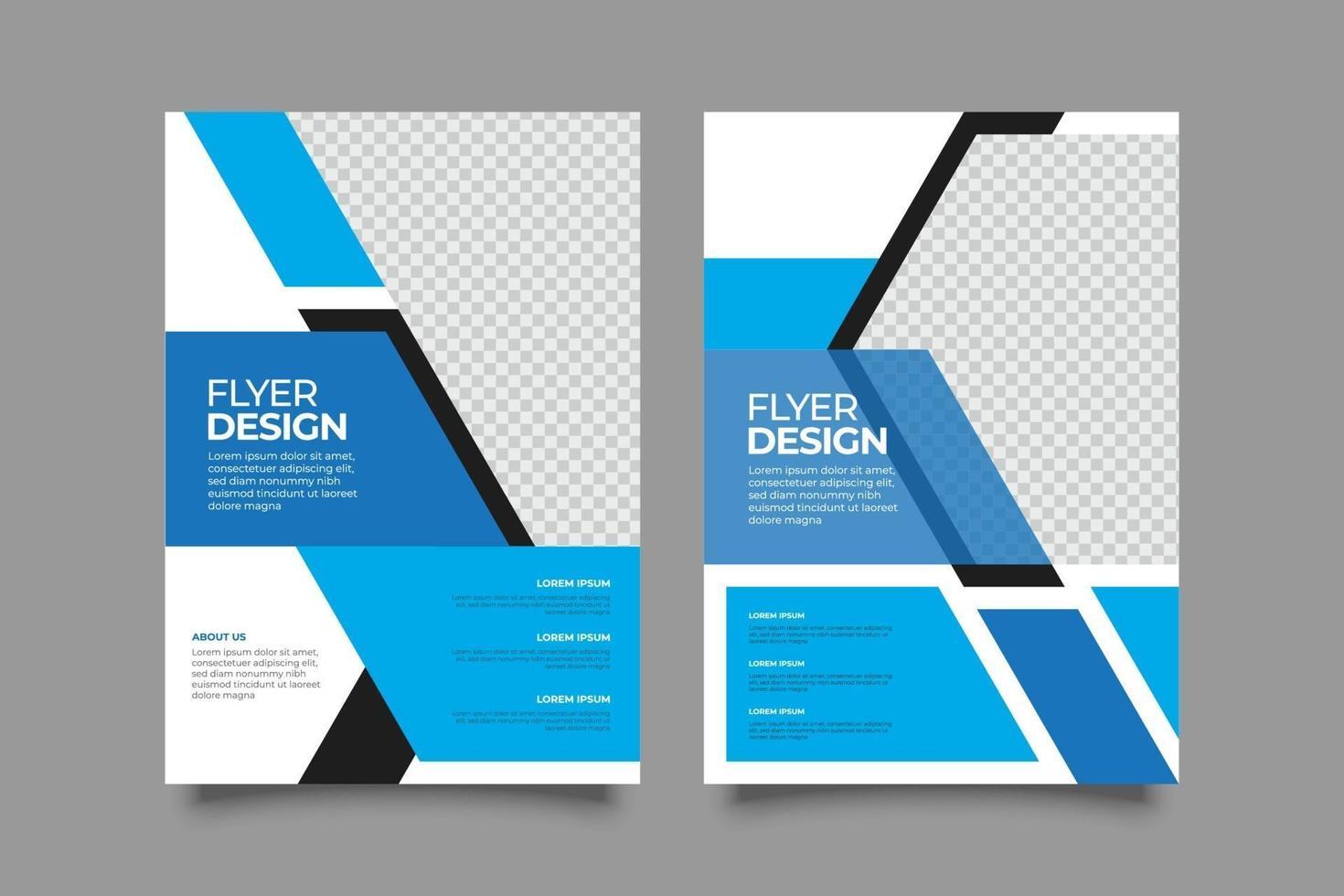 webinar geometrisk reklambladmall med former vektor