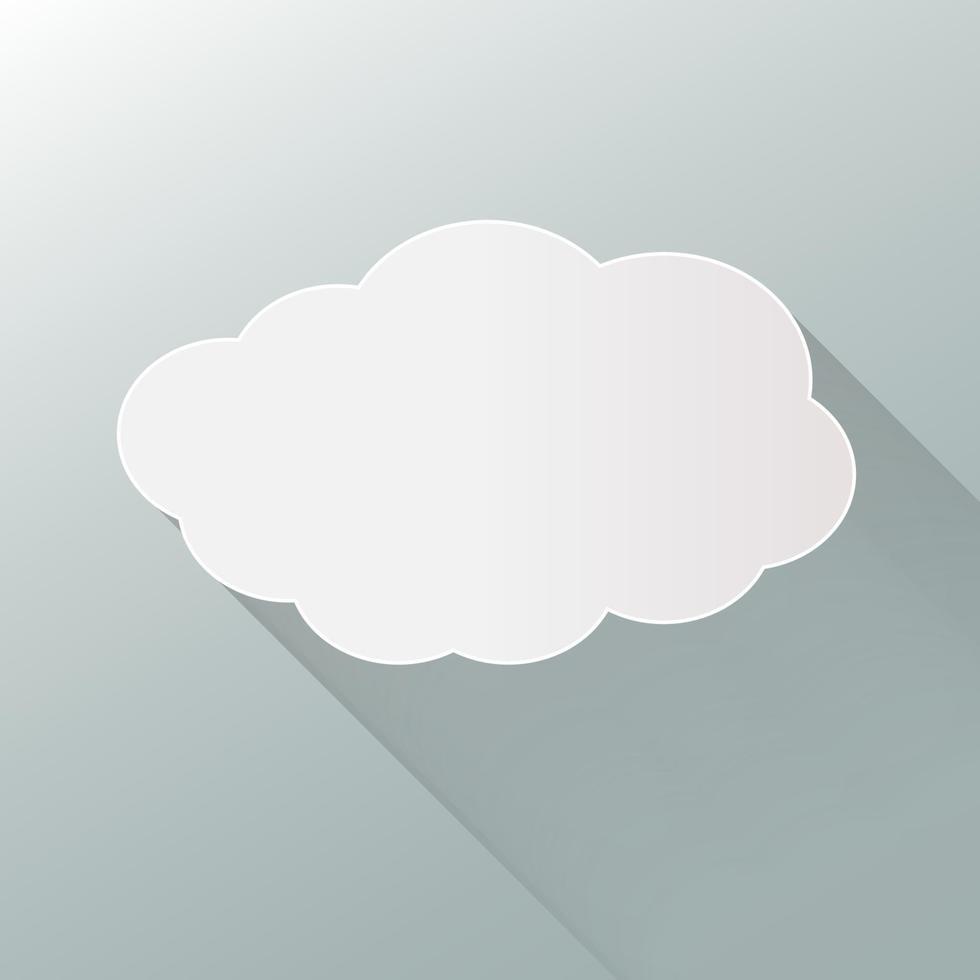 Wolkensymbol lokalisiert auf Hintergrund. flache Wolke. vektor