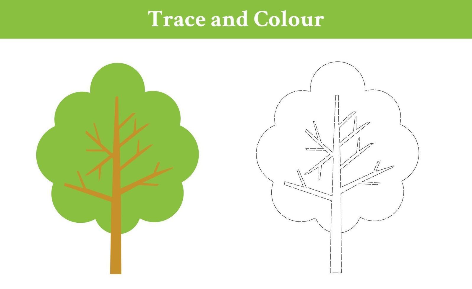 spår- och färgträd vektor