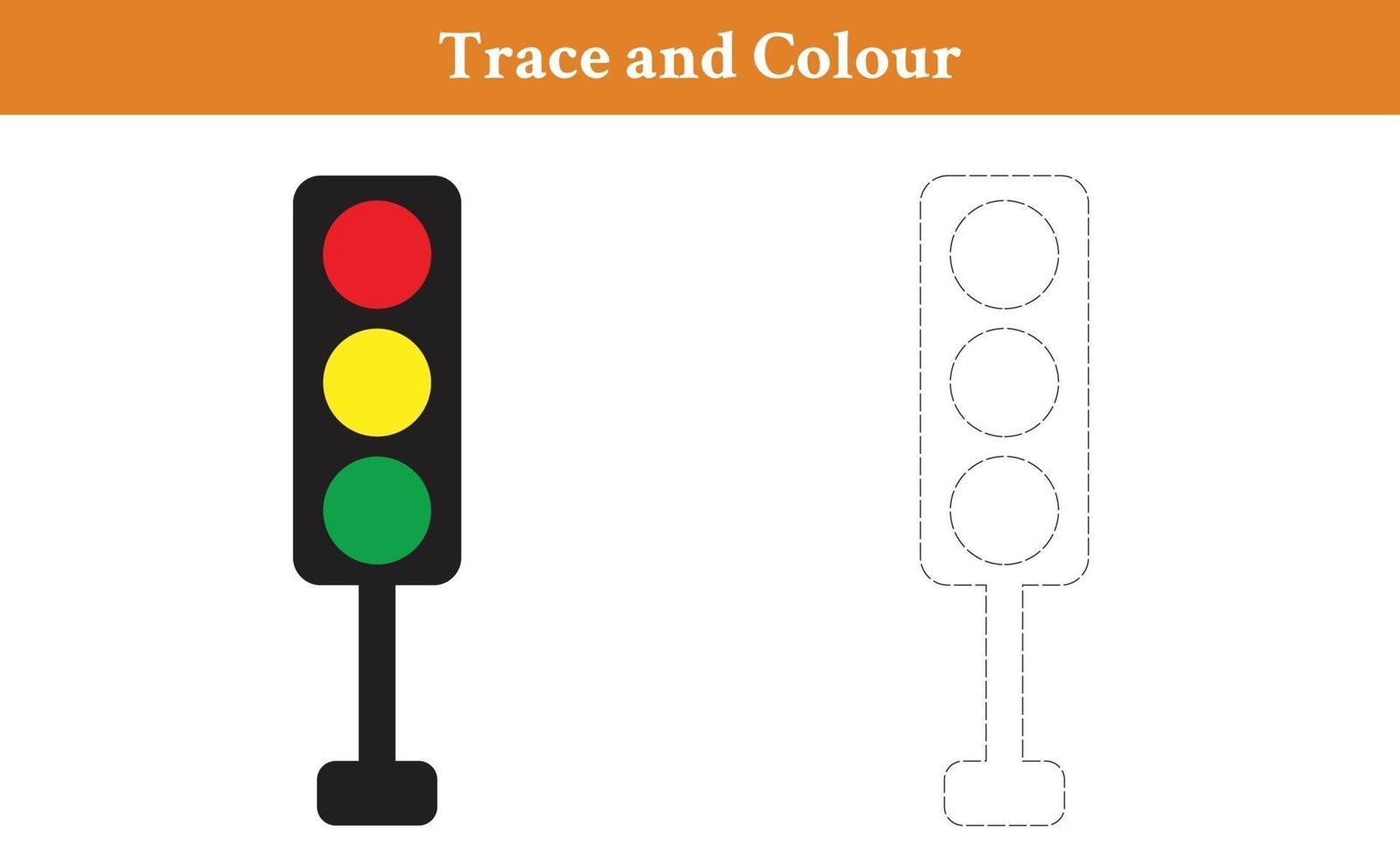 spår och färg trafikljus vektor
