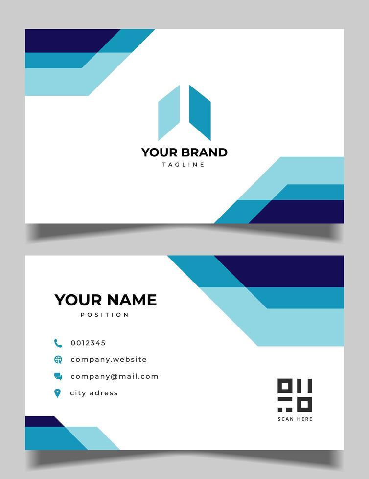 professionelles blaues Visitenkarten-Design vektor