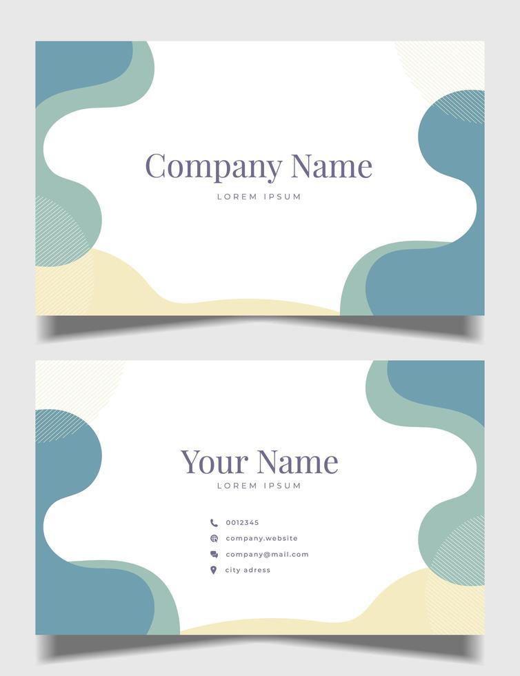 sauberes Visitenkarten-Design mit Pastellfarbe vektor