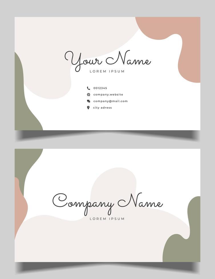 ren visitkortdesign med pastellfärg vektor