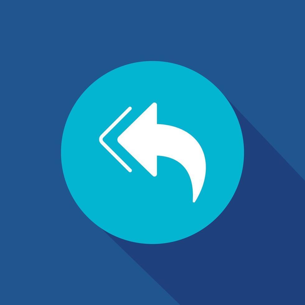 föregående ikon platt vektor. pil, riktningssymbol vektorillustration för webb- och mobilappvektor. vektor