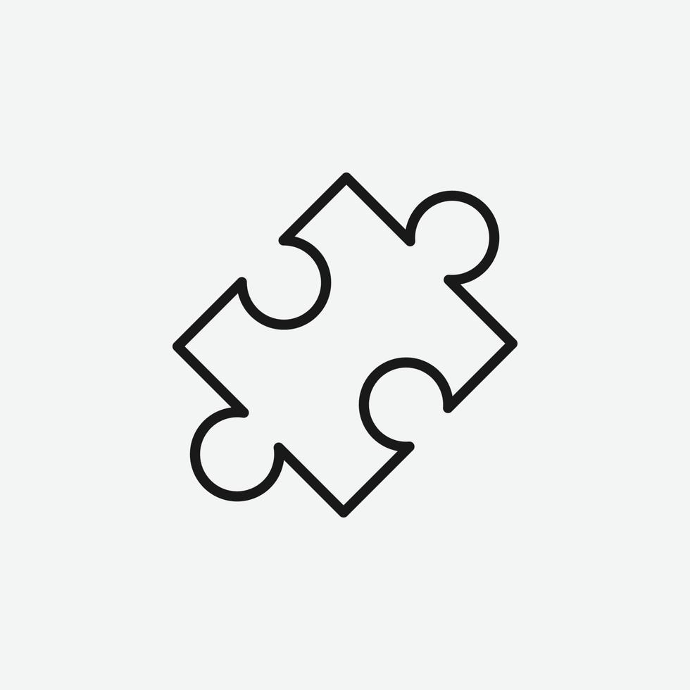 vektor illustration av pusselsymbol