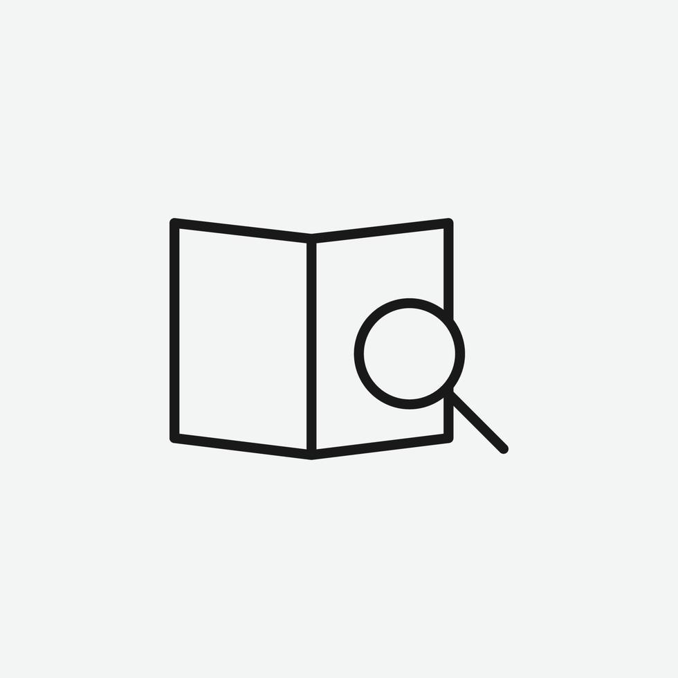 vektorillustration av sökikonsymbolen vektor
