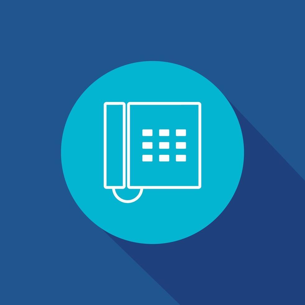 Bürotelefonvektorikone. Geschäft, Telefon, Kommunikation, Anrufsymbol isoliert. vektor