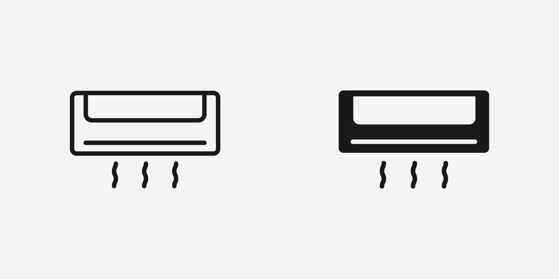 vektorillustration av luftkonditioneringssymbolen vektor