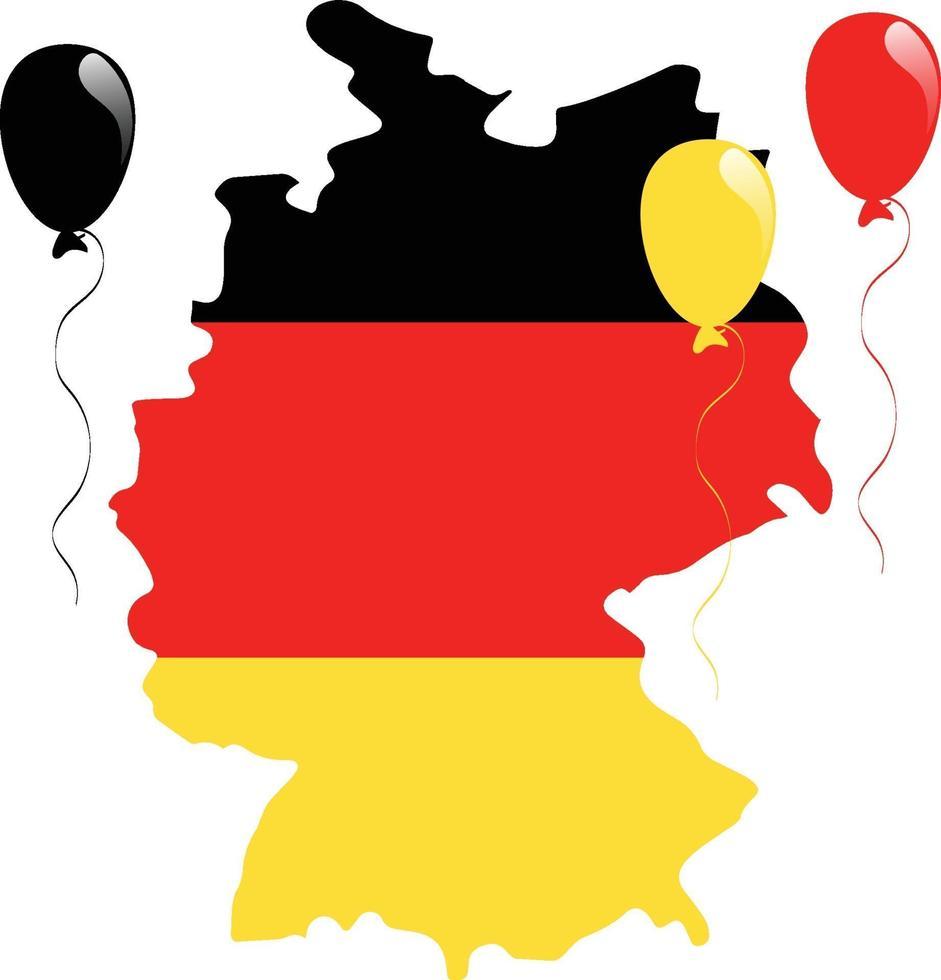 Tyskland karta flagga vektor