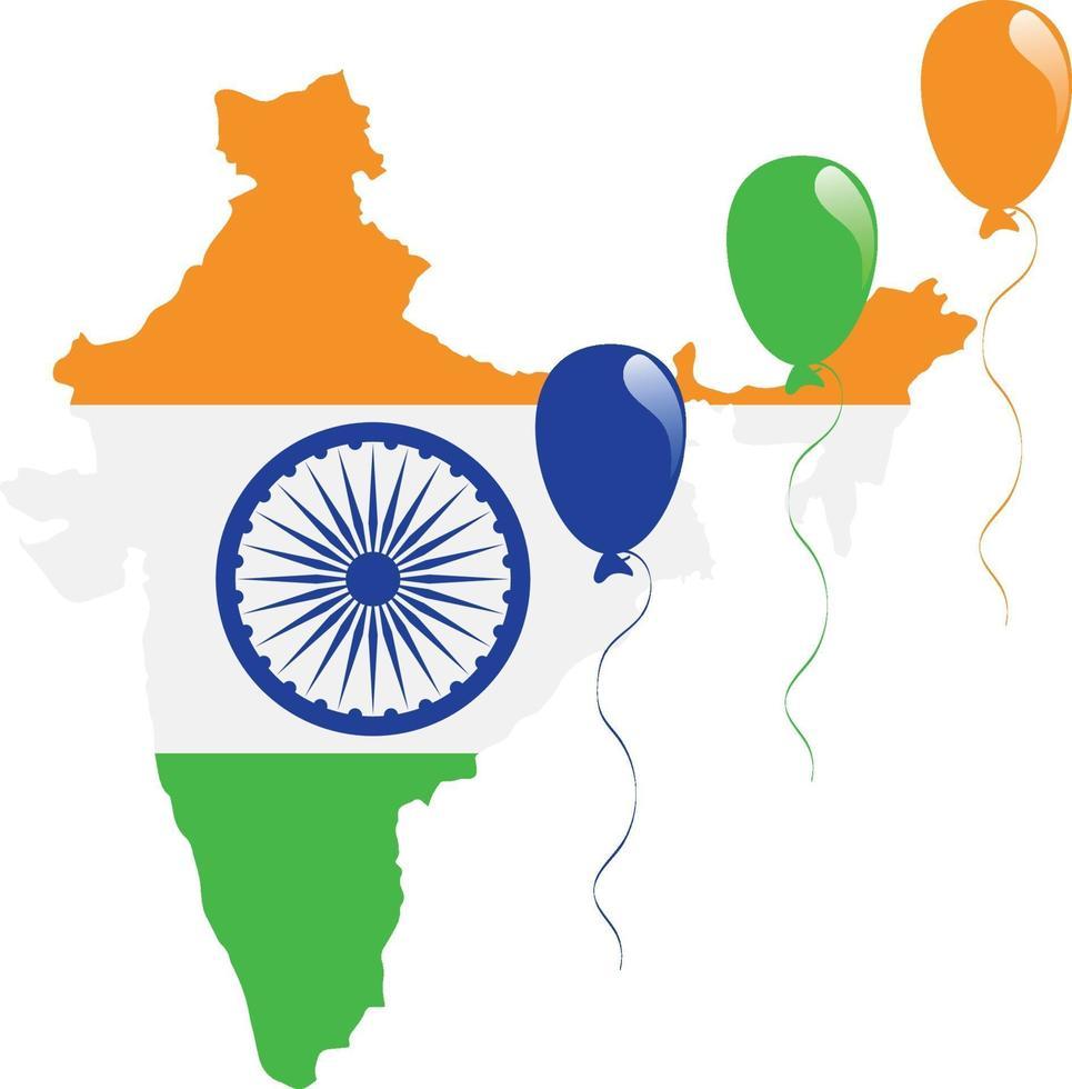 Indien Karte Flagge vektor