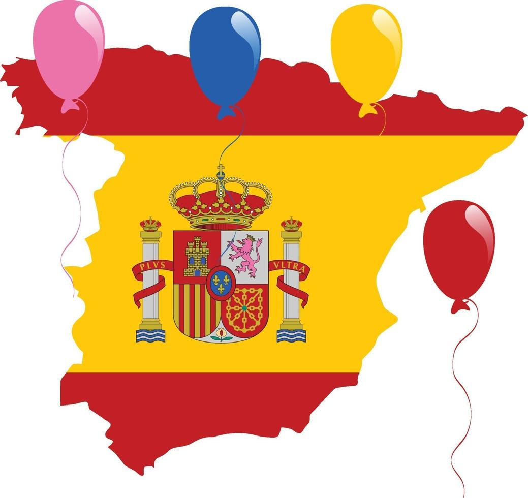 spanien karte flagge vektor
