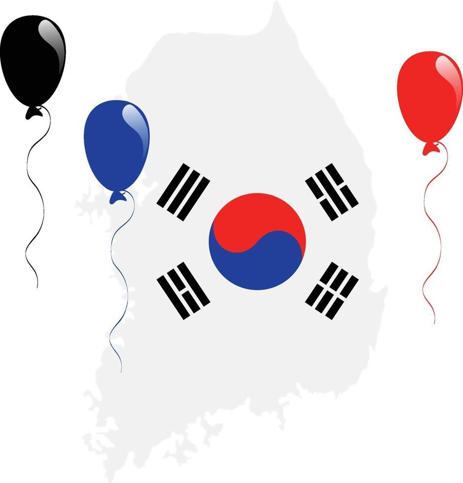 sydkoreanska karta vektor