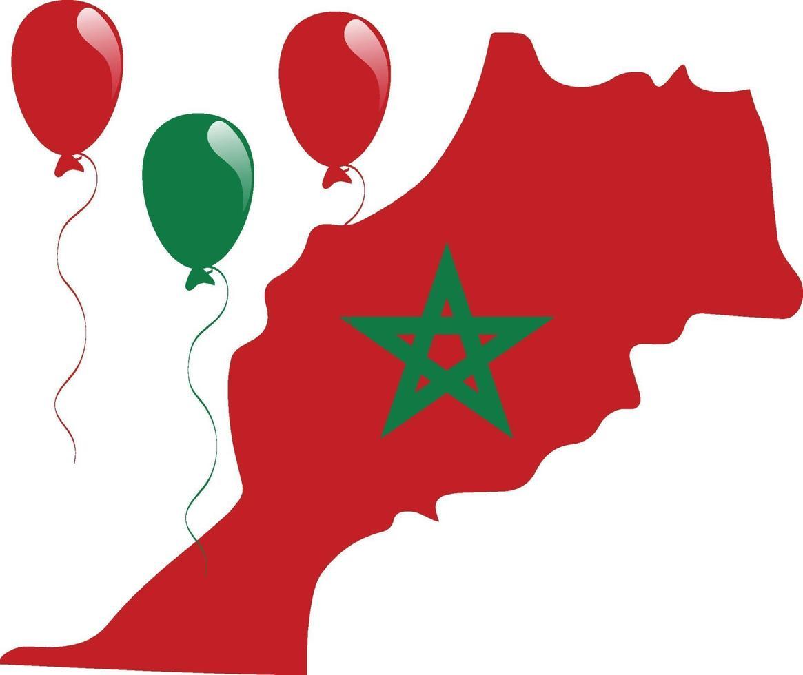 Marocko karta flagga vektor