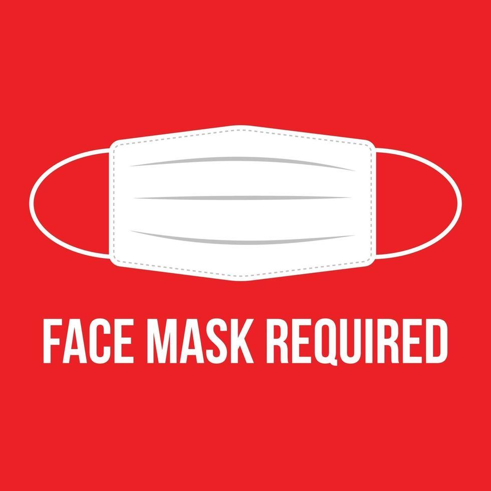 Gesichtsmaske erforderlich vektor