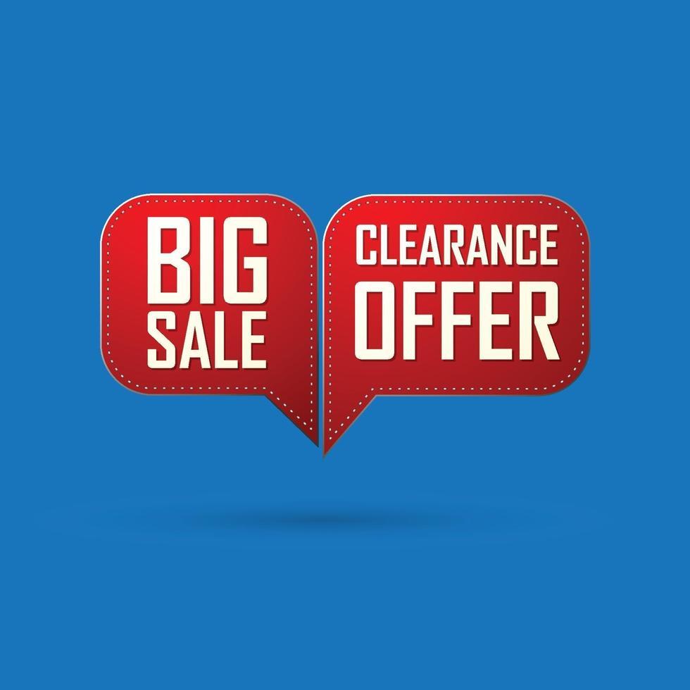 röd bubbla försäljning erbjudande och stor försäljning design. vektor illustration